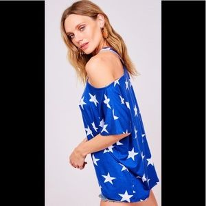 ❤️bare shoulder star top